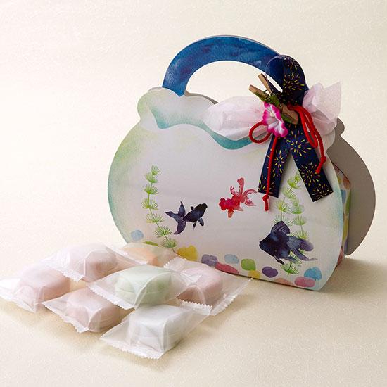 画像1: monaca 金魚BOX 7個入(チョコレート) (1)