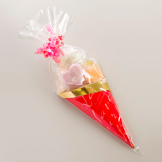 画像1: monaca Valentine はぁとcone 5個入(チョコレート) (1)